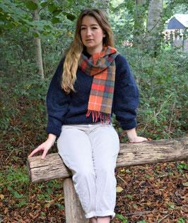 John Hanly sjaal, oranje/ multi