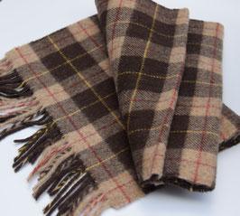 John Hanly sjaal, bruin/beige geblokt