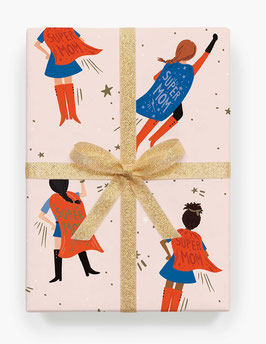 Rifle Paper Co. Gift wrap 'Super mom'