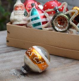 Kerstbal zilver/goud, gesuikerde krullen