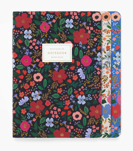 Rifle Paper Co. stitched notebook set 3 'Wild Rose'