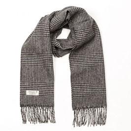 John Hanly sjaal, zwart/wit Glencheck