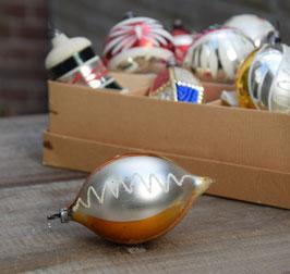 Pegel zilver/oranje, gesuikerde krullen
