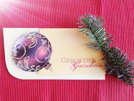 Geschenkgutschein - Weihnachten, gerundet