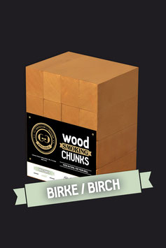 16 Wood Smoking Chunks / Birke