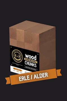 16 Wood Smoking Chunks / Erle