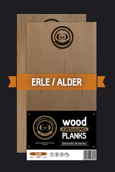 2 Wood Grilling Planks / Erle