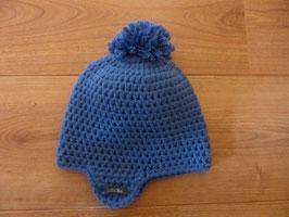 Bonnet bébé bleu denim