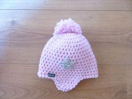 Bonnet bébé rose clair