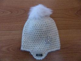 Bonnet bébé blanc pailleté