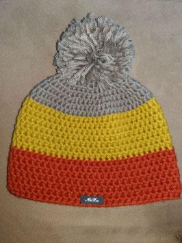 Bonnet 3 couleurs automne