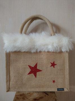 Petit sac 3 étoiles rouge