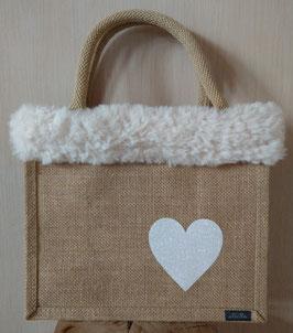Petit sac cœur blanc