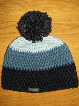 Bonnet 3 couleurs bleu