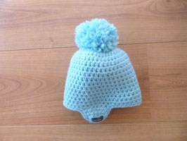Bonnet bébé bleu clair