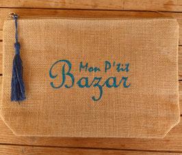 Pochette jute Mon p'tit bazar