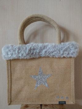 Petit sac étoile argent