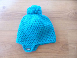 Bonnet bébé turquoise