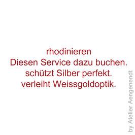 Service rhodinieren