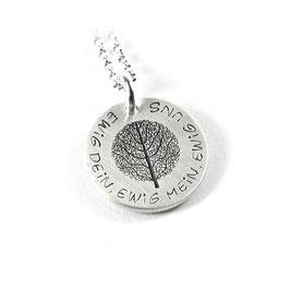 Anhänger Baum des Lebens und Kette aus 925 Silber mit individueller Gravur PS283 KE2