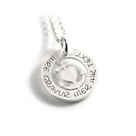 Anhänger Glaube Liebe Hoffnung Herzanker und Kette aus 925 Silber mit individueller Gravur PS449 KE2