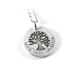 Anhänger Baum des Lebens und Kette aus 925 Silber mit individueller Gravur PS257 KE2