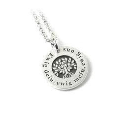 Anhänger Baum des Lebens und Kette aus 925 Silber mit individueller Gravur PS82 KE2
