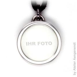 Titan Fotoanhänger tolles persönliches Erinnerungsstück Geschenkidee TITAN RUND (FOSTR)