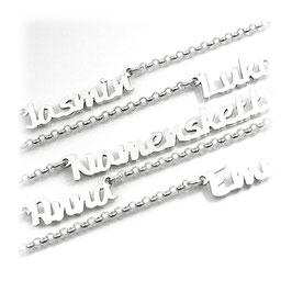 Wunschname Namenskette - Anhänger und Kette aus 925 er Silber (PNE4) 45cm KE5