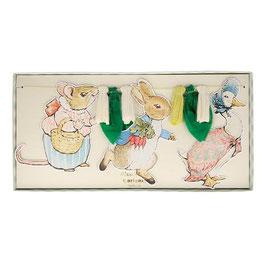 Guirnalda Peter Rabbit y amigos.