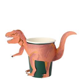 Vaso dinosaurio / 8 uds.