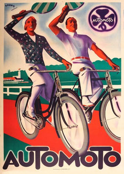 c1930s Automoto Advertising Poster