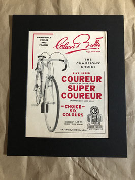 Original 1960s Card Mounted Claud Butler Printed Advertisement...