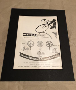Original 1960s Reynolds/Williams Card Mounted Printed A4 Advertisement...