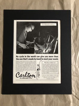 1960s Original Card Mounted Carlton Cycles Printed Advertisement...