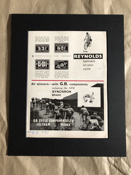 Original 1960s Card Mounted Reynolds/GB Components Printed Advertisement...