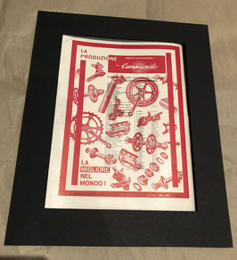 Original 1960's Card Mounted Campagnolo Printed Advertisement...