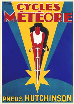 c1930S Cycles Meteore / Hutchinson Tyres Poster