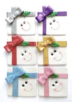 Happy Face Present Ornament