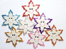 Happy Face Snowflake Ornament