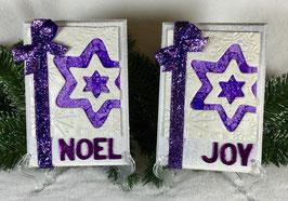 Purple Star Snowflake Plaque