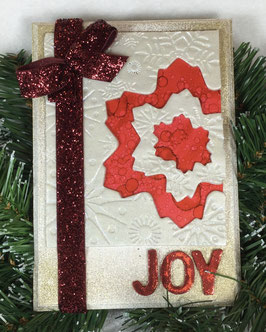 Red Snowflake Plaque