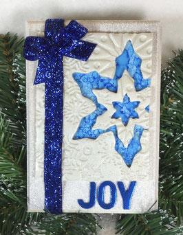 Blue Snowflake Plaque
