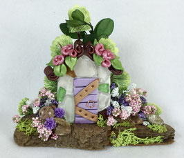 Purple Miniature Fairy Door Garden