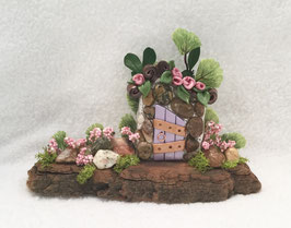 Purple & Pebble Miniature Fairy Door Garden