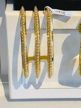 Armreif dreifach in Gold