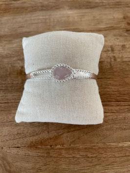 Armspange mit Stein rosa silber