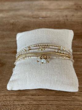 5-faches Armband gold