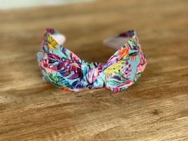 Haarband Blumenmuster bund