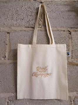 Tasche / Shopper aus Bio-Baumwolle mit goldfarbenem Schriftzug